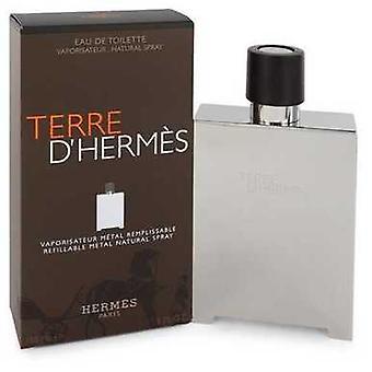 Terre D'hermes de Hermes Eau De Toilette Spray Refillable (métal) 5 Oz (hommes) V728-543184