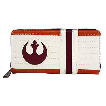 Star Wars pung X-wing pilot Rebel logo nye officielle Loungefly zip rundt