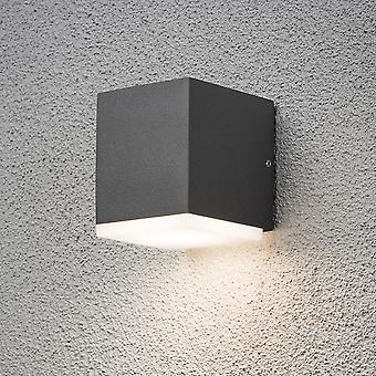 Konstsmide 7990 Modern Monza Cube Single LED Outdoor Wall Light Box
