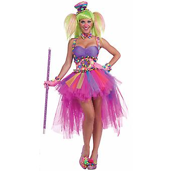 Tutu Lulu Clown Circus Birthday Party Carnival Fancy Dress Up Women Costume