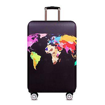 Matka laukku kannet, maailman kartta