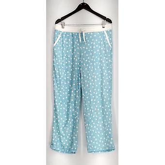 Carole Hochman Lounge Pants, Sleep Shorts Stretch Waffle Fleece Pant Blue