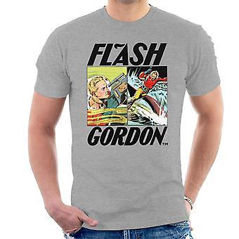 Flash Gordon Action Comic Montage Men's T-Shirt