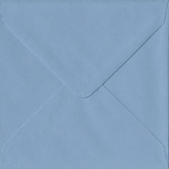 Wedgwood Blue Gummed 130mm Square Coloured Blue Envelopes. 100gsm FSC Sustainable Paper. 130mm x 130mm. Banker Style Envelope.