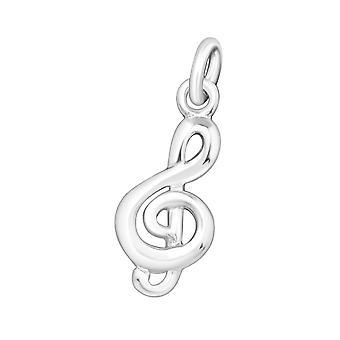 Music Note - 925 Sterling Silver Plain Pendants - W22092X