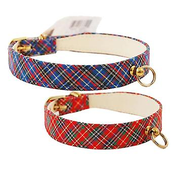 Pet Supply Imports 430 Plaid Scotch Adjustable Fancy Dog Collar 3/4