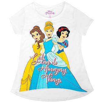 Disney Princesas meninas fazem incríveis coisas da juventude branca camiseta