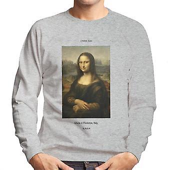 A.P.O.H Mona Lisa Made In Florence Men's Sweatshirt
