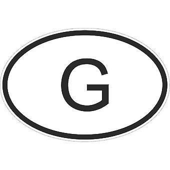 Autocollant Sticker Drapeau Oval Code Pays Voiture Moto Gabon Gabonais G
