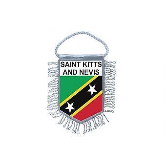 Fanion Mini Drapeau Pays Voiture Decoration Saint Kitts Et Nevis