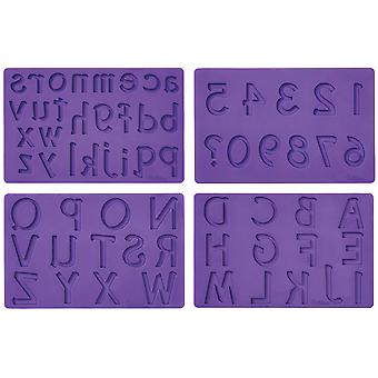 Fondant And Gum Paste Silicone Mold Letters And Numbers W4092547