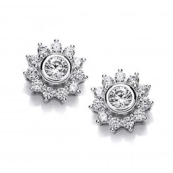 Cavendish French Small Cubic Zirconia Sun Earrings