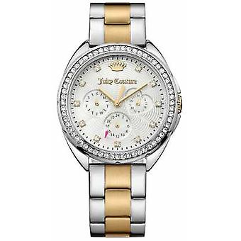 Juicy Couture Womens Capri Two Tone Stainless Steel Bracelet Silver Dial 1901481 Watch