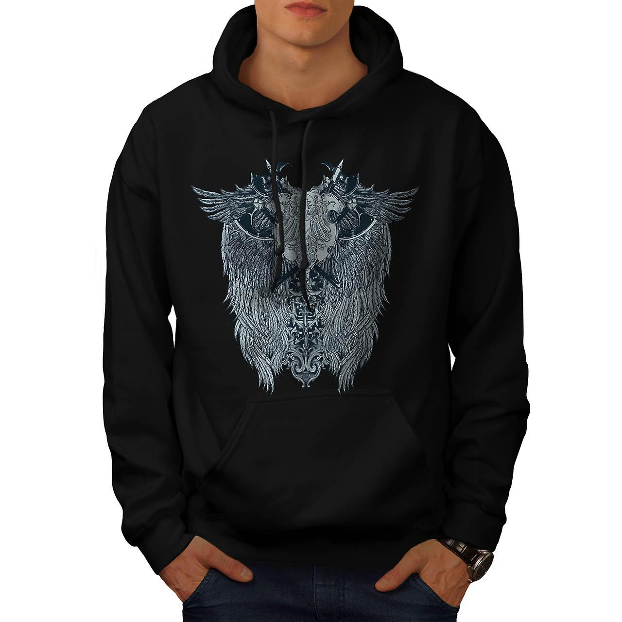 Coat Of Arm Art Fantasy Men Black Hoodie | Wellcoda