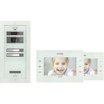 Video door intercom Corded Complete kit Bellcome KIT.VPA.2F002.BLW Semi-detached White