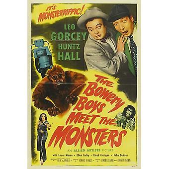 Os meninos de Bowery conheçam o monstros filme Poster Print (27 x 40)