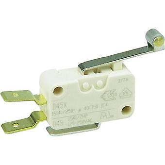 Microswitch 250 Vac 16 A 1 x On/(On) Cherry Switches D45U-V3RD momentary 1 pc(s)