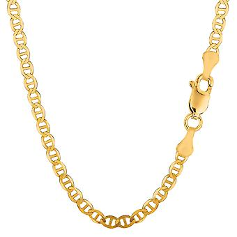 14k Yellow Gold Mariner Link Chain Necklace - 4.5 mm