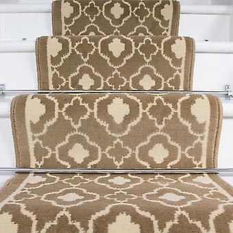 50cm Width - Contemporary Natural Trellis Stair Carpet