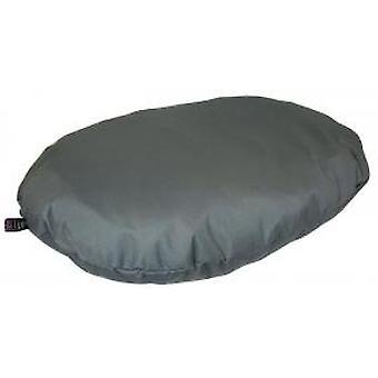 Country Dog Heavy Duty Waterproof Oval Cushion Grey 95x70x15cm