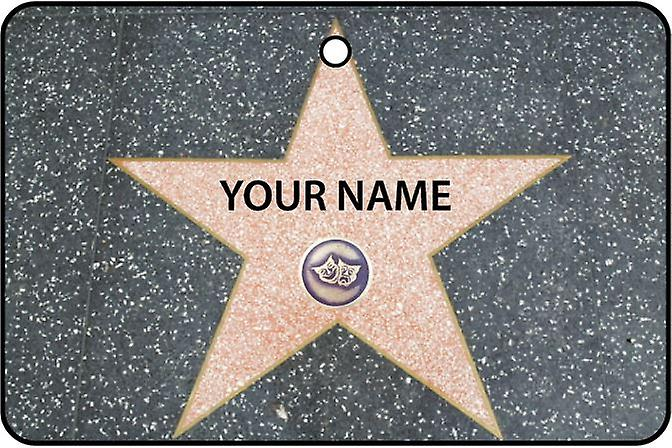 Personalised Hollywood Walk Of Fame - Live Theatre Category Car Air Freshener