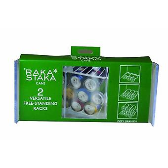 Raka Staka Set of 2 Cans Versatile Racks