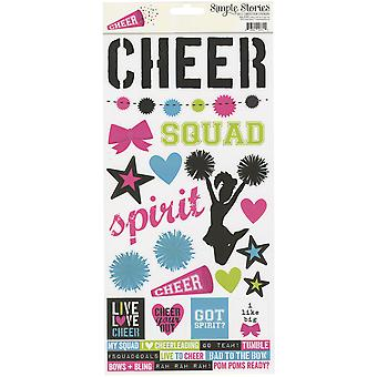 Simple Sets Cheer Cardstock Stickers 6