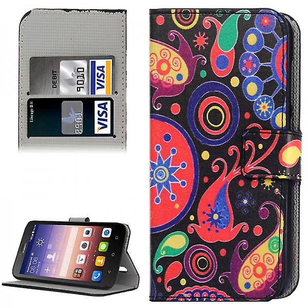 Pocket wallet premium pattern 8 for Huawei Ascend Y625