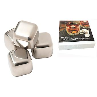 Epicurean Stainless Steel Whisky Stones, Set of 4