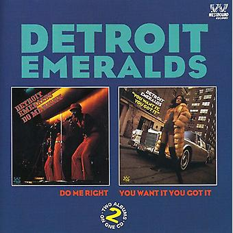 Detroit Emeralds - Do Me Right / You Want It [CD] USA import