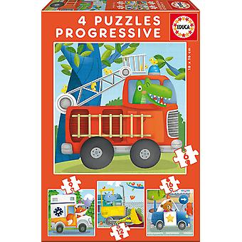 Educa Puzzle Progresivo 6-9-12-16 Patrulla Rescate (Toys , Preschool , Puzzles And Blocs)