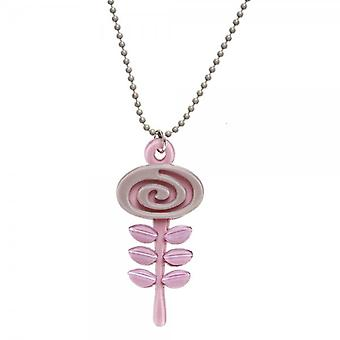Camille Big Baby Womens Ladies Fashion Jewellery Light Pink And Brown Acrylic Flower Necklace