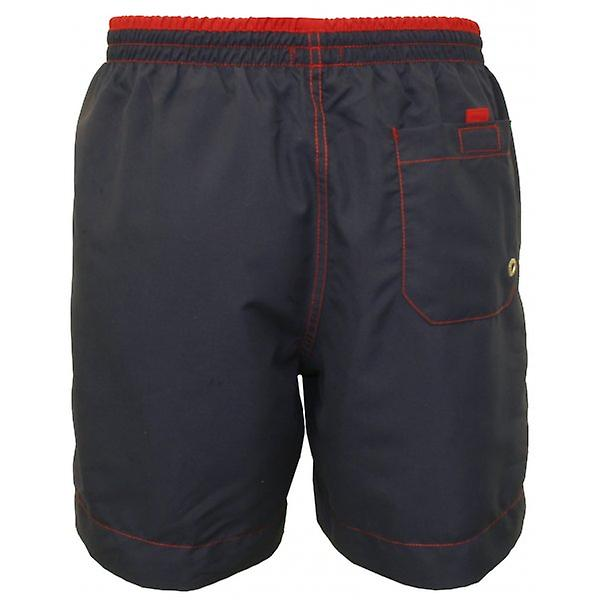 Jockey Contrast Waistband Swim Shorts, Navy/Red