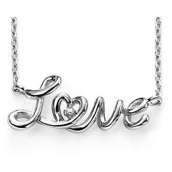 925 sølv kærlighed halskæde Rhodium belagte