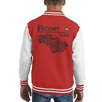 Haynes Owners Workshop Manual Ford Escort Black Kid's Varsity Jacket