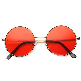 Metalowy okrągły okulary damskie z UV400 chronione kompozytowe obiektywu