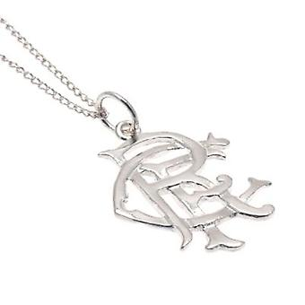 Rangers Sterling Silver Pendant & Chain