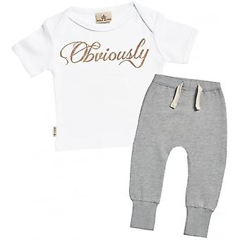 Spoilt Rotten Obviously Baby T-Shirt & Joggers Outfit Set