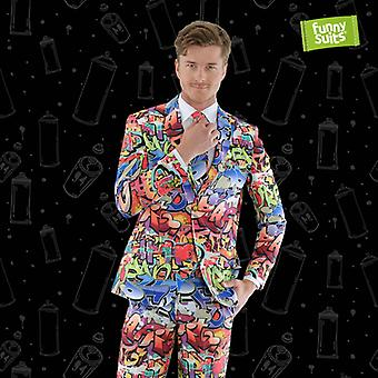 Graffiti of 90s street art suit hip hop 3-piece suit costume deluxe EU SIZES