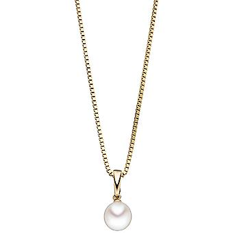 Single earrings pendant 585 Gold Yellow Gold 1 South Sea Pearl Pearl pendant