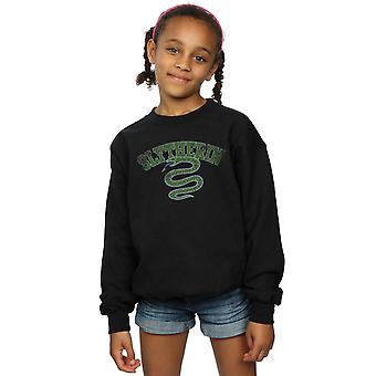 Harry Potter Girls Slytherin Sport Emblem Sweatshirt
