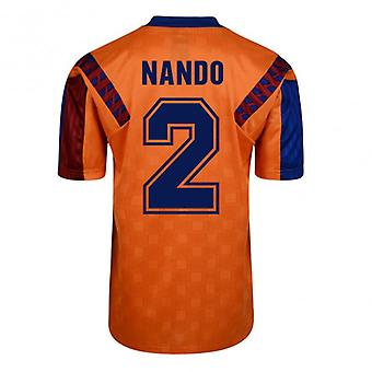 Score Draw Barcelona 1992 Away Shirt (Nando 2)