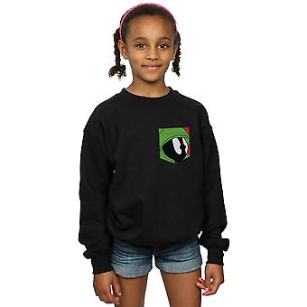 Looney Tunes meisjes Marvin de martiaanse gezicht Faux Pocket Sweatshirt