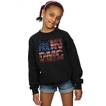 Run DMC Girls US Flag Logo Sweatshirt