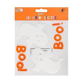 Halloween Shapes and Silhouettes Gel Window Stickers Decoration-Ghost