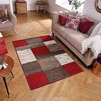 Portland 5503 R rouge Rectangle Beige tapis tapis modernes