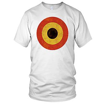 Belgian Air Force Roundel Grunge Effect Ladies T Shirt