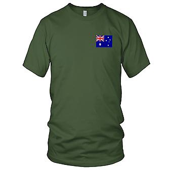 Nationalflagge Australien australische Country - Stickerei Logo - 100 % Baumwolle T-Shirt Damen T Shirt