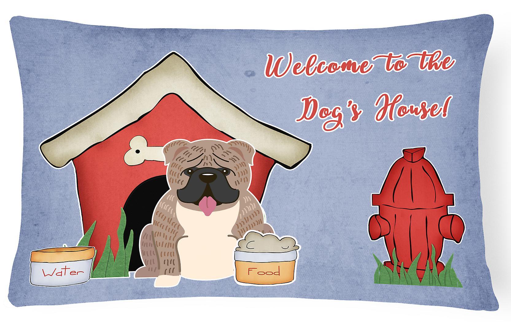 Gris Bringé Pilule Dog Décoratif Toile House Bulldog English Tissu Collection cqAL35j4SR