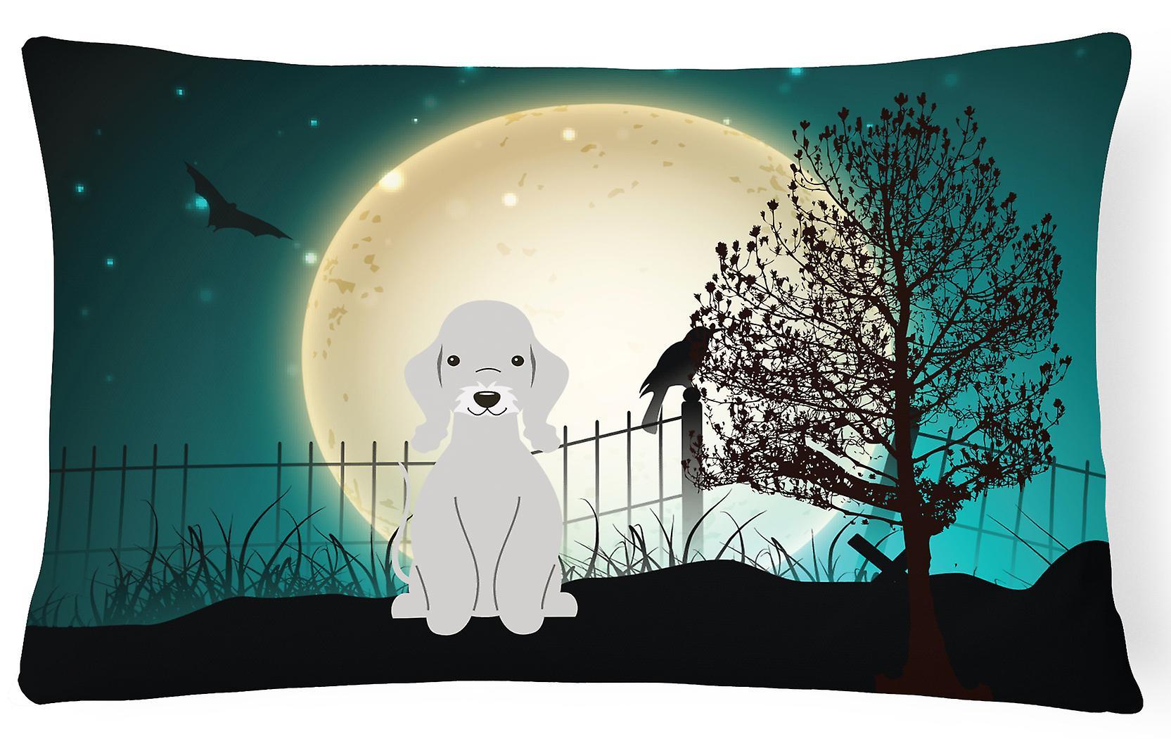 Toile Bleu Bedlington Terrier Décoratif Oreiller Effrayant Tissu Halloween NwOZnk8X0P